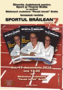 Afis_lansare revista Sportul Brailean RSB_7_2015 pt blog