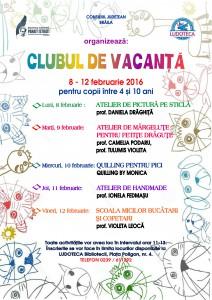Afis - Clubul de vacanta iarna 2016