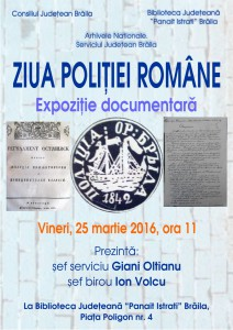 Afis - ziua politiei romane