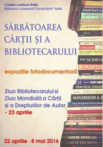 Afis - Ziua Bibliotecarului